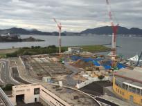 2015年9月8日 各スタンドの地中梁工事に着手し、スタジアムの土台作りが進行中です。